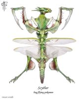 Scyther by Vincent-Covielloart