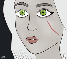 RedditGetsDrawn: /u/Rabbithearted387 as Ciri by Sylverstone14