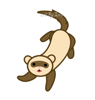 Cute ferret jumping by inu-chan-free