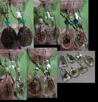 Steampunk Earrings Collage 1 by bluepaws21