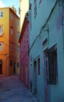 coloured buildings by themode