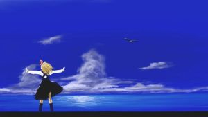 """Rumia in the """"AIR"""" by nisemono-mbby"""