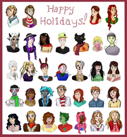 HA Collab: Happy Holidays! by macxcheese