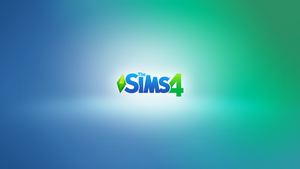 Sims 4 CAS inspired wallpaper - Logo by moozdeviant