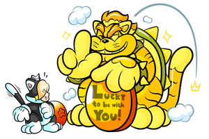 Commission - Rosie's Lucky Bowser Pt 2 by JamesmanTheRegenold