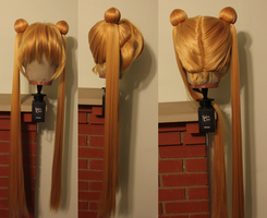 Completed Sailor Moon Wig Commission 3 by Miss-Star-Bucket