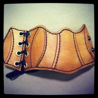 snapped corset cuff by MerrillsLeather