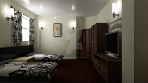 Waterhouse Townhouse design 1 - Second Bedroom by MattShadowwing