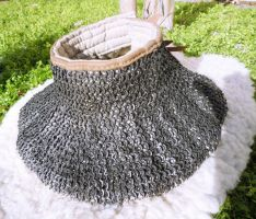 Padded gorget with chainmail by Leoricus