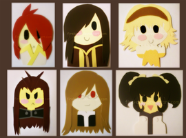 Paint Chip Chibis by firekarst