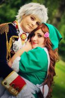Hetalia - Prussia and Hungary by GoldenMochi