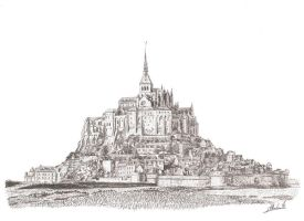 Mont Saint Michel by maddrawings