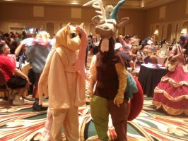 Discord and Fluttershy Cosplay by BlackFoxFurry7
