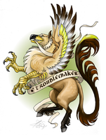 Troublemaker - hippogriffon by ThunderboltFire