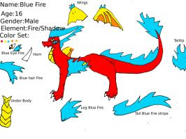 Blue Fire Ref Sheet by NewMoon-Dragoness