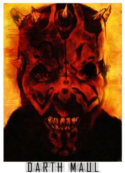 Darth Maul colored by WarfyrdauzwaR