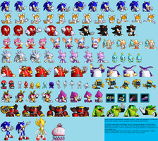 Sonic Colors Cutscene Sprites by TrishRowdy