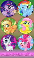 MLP Buttons batch 1 by AleximusPrime