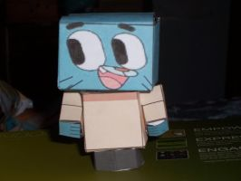 Gumball Paper Craft by Darkflametailz