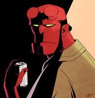 Hellboy by AnArtistCalledRed