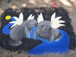 Manatees In Space by Celune