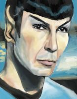 Spock by Meljona
