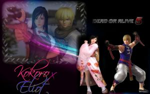 EliotXKokoro Dead Or Alive5 by LillyGamer