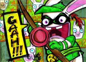 GA Rabbid Charity Sketch Card by y2jenn