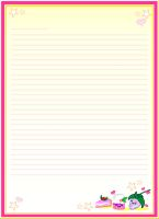 Girly Note Paper by bandeau