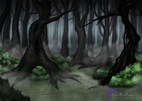 Haunted Woods by nova-fire-dragon