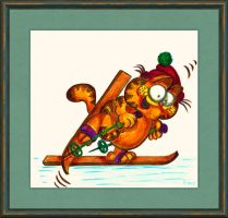 Garfield Skiing by fmr0