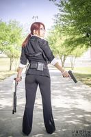 Claire Redfield cosplay RE M3D suit by VickyxRedfield