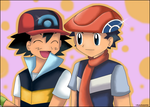 Pokemon Twins-Ash and Lucas by Km92