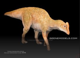 Young  Parasaurolophus *Joe* by GalileoN