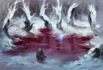 The Pool of Blood by Noxypia