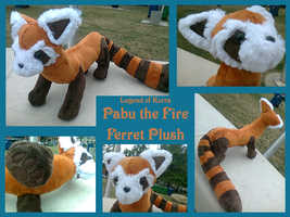 Pabu the Fire Ferret Plush by methuselah-alchemist