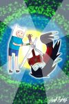 Adventure Time Finn and Marceline by lelouch10