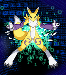 Commission: Renamon from Digimon Tamers by Raykugen
