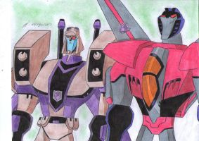 Blitzwing and Starscream together by ailgara