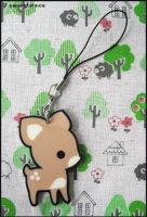 Acrylic Fawn Charm by littlepaperforest