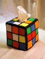 Rubics Cube Tissue Box by WollMia