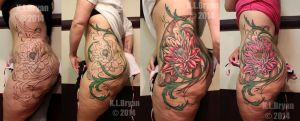 Floral hip piece step-by-step by danktat