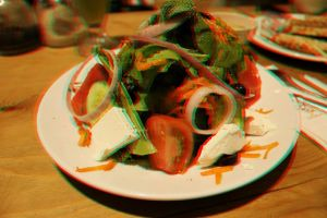 salad in 3D stereo photo by amirajuli