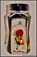 The Enchanted Rose Candle Jar by Bonniemarie