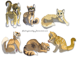DaneliontuftXSunbright hypo kittens by DancingfoxesLF