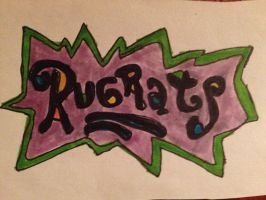 Rugrats Logo Artwork Drawing by NWeezyBlueStars23