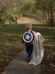 Captain America With His Trusty Blanket by darkpriestss