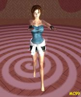 Jill Valentine Hypnotized And Barefoot by The-Mind-Controller