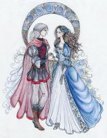 the Dragon Prince and the Wolf Maid by La-Chapeliere-Folle