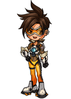 OW: Tracer chibi by ryumo